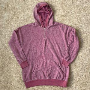 Francesca's Alga Hooded Oversized Sweatshirt